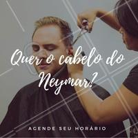 Não dá pra negar que o penteado mais comentado da Copa 2018 é do nosso camisa 10! Quer copiar o penteado polêmico do Neymar? Agende seu horário! 😎 #cabelo #neymar #ahazou #copa2018 #copadomundo #barbearia