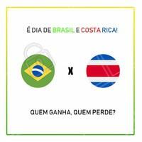 Hoje é dia de jogo do Brasil contra Costa Rica! Quem ganha, quem perde? Deixe seu palpite! 👇 #brasil #costarica #palpite #ahazounacopa #ahazou #vemhexa #hexacampeao #ahazounacopa