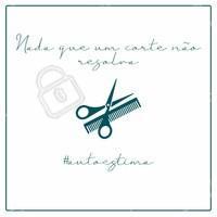 Precisando elevar a autoestima? Nada de um bom corte de cabelo não resolva! Agende já seu horário  📱(xx)xxxxx-xxxx #autoestima #ahazou #corte #cortedecabelo