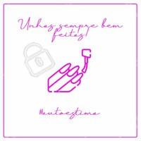 Sabia que manter as unhas sempre bem feitas aumenta a autoestima? Agente já um horário 📱(xx)xxxxx-xxxx  #autoestima #ahazou #manicure #unhas