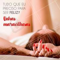 Com unhas maravilhosas, a vida é só sorrisos! 😁 #unha #ahazou #manicure