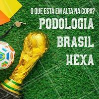 Todo mundo na torcida, já sabe o que está em alta na Copa neh?! #hexa #ahazoupodologia #torcida #ahazou #brasil #podologia #ahazounacopa
