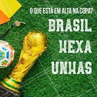 Já sabe quais assuntos mais comentados na Copa? 😜#torcida #ahazoumanicure #brasil #ahazou #unhas #manicure #pedicure #nails #ahazounacopa