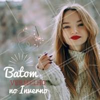 Batom vermelho é sempre um ahazo, mas no Inverno... 😍 #maquiagem #inverno #ahazou #makeup #batomvermelho