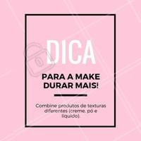 Esse é um truque muito usado para fazer a make durar a noite toda! Para melhores resultados, aplique sempre na ordem: líquido, creme e pó por último. #maquiagem #makeup #ahazou #dicasdemaquiagem