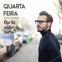 Quarta-feira também é dia de se cuidar! 🧔 #barbearia #ahazou #quartafeira #barba