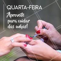 Venha ficar com unhas lindas e esteja preparada pro fim de semana! 💅 #unha #manicure #ahazou #quartafeira