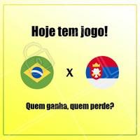 Hoje é dia de jogo do Brasil contra a Sérvia! Será que teremos grandes emoções como no jogo passado? Quem ganha, quem perde? #jogo #ahazou #hexa #vemhexa #ahazounacopa