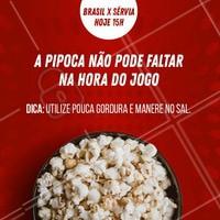 Vai assistir o Jogo? Super dica de saúde para você curtir sem se preocupar. #saúde #ahazounacopa #brasil #ahazou #torcida