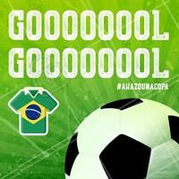Gooooool. Brasil na Torcida! #brasil #ahazounacopa #ahazou #torcida