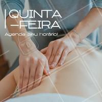 Uma ótima quinta pra você! Aproveite e agende uma massagem! #massagem #ahazou #quinta #semanal