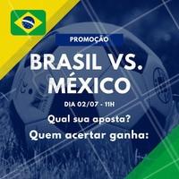 Sugestão de legenda: Os X primeiros que acertarem a pontuação do jogo Brasil vs. México ganha (escrever aqui os serviços que você irá premiar)! Vamos jogar? ️⚽️ Comente aqui sua aposta! 😉 #brasil #ahazou #copa #jogodobrasil #ahazounacopa