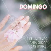 Vamos aproveitar o domingo para cuidar das mãos e unhas? Dica: use um esfoliante para remover as células mortas, hidrate as mãos e cuide das cutículas com um óleo de cutículas! #esmalteria #ahazou #manicure #domingo #Unhas