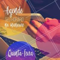 Já agendou seu horário hoje? #manicure #ahazoumanicure #pedicure #ahazou #agendamento