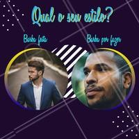 Qual o seu estilo? Conta aí pra gente. #barbearia #ahazoubarbearia #ahazou #barba #barbaderespeito