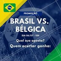 Sugestão de legenda: Os X primeiros que acertarem a pontuação do jogo Brasil vs. Bélgica ganha (escrever aqui os serviços que você irá premiar)! Vamos jogar? ️⚽️ Comente aqui sua aposta! 😉 #brasil #ahazou #copa #jogodobrasil #ahazounacopa