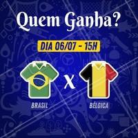 Sugestão de legenda: Os X primeiros que acertarem a pontuação do jogo Brasil x Bélgica ganham (escrever aqui os serviços que você irá premiar)! Vamos jogar? ️⚽️ Comente aqui sua aposta! 😉 #brasil #ahazou #copa #jogodobrasil #ahazounacopa