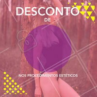 Desconto nos nossos serviços? Só apresentar esse post! #esteticacorporal #desconto #ahazou #ahazouestetica #promocional