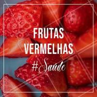 As frutas vermelhas proporcionam muitos benefícios para a saúde. São antioxidantes, ricas em vitaminas, sais, minerais e proporcionam hidratação, pois contém quantidade considerável de líquido!São também, fontes de ferro, cálcio, fósforo, possui bom teor de fibra e pouco calóricas! Inclusive, são agentes potentes para prevenir o envelhecimento precoce e influenciam muito na estética! #frutasvermelhas #ahazousaude #ahazou #beneficios #vitaminas #rejuvenescimento