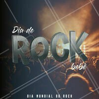 Hoje é dia de rock, bebê! Abra seu aplicativo de streaming e coloque a sua banda favorita pra comemorar! #diadorock #rocknroll #ahazou #diaderockbebe #ligaosom