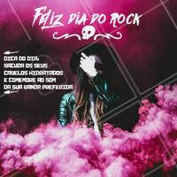 Hoje é dia de rock, bebê! Abra seu aplicativo de streaming e coloque a sua banda favorita pra comemorar e sacudir as madeixas! #rocknroll #diadorock #ahazou #ahazoucabelo #rockbebe #aumenta o som