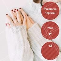 Unhas perfeitas por preço promocional! Aproveite! #unhas #manicure #pedicure #ahazou