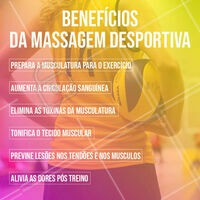Confira nosso post citando alguns dos benefícios da massagem desportiva. #dica #ahazou #ahazoumassagem #massagemdesportiva