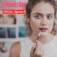 Mês de agosto é  mês de promoção. Aproveite. #promoção #ahazou #beleza