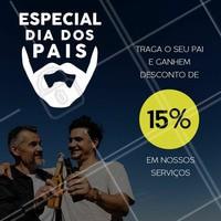 Traga o seu pai para renovar o visual e aproveitem esta promoçao especial!  #diadospais #promocional #ahazou #barbearia #barber
