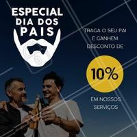 Traga o seu pai para renovar o visual e aproveite essa promoção especial!  #diadospais #promocional #ahazou #barber #barbearia