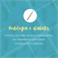 O podólogo também atua no cuidado dos pés diabéticos, tratando as feridas que surgem em razão da doença e orientando o cliente sobre os cuidados essenciais. Entre em contato conosco para saber mais!  #podologia #diabetes #ahazou #cuidados