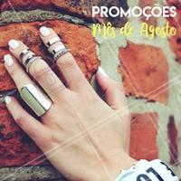 Aproveite os precinhos especiais do mês de agosto!  #promocional #ahazou #manicure #pedicure