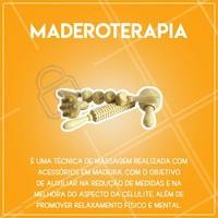 Já conhece a maderoterapia? Agende o seu horário e venha experimentar!  #maderoterapia #estéticacorporal #ahazouestetica