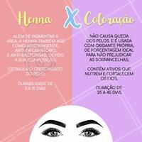 Você sabe a diferença entre a coloração específica para sobrancelha e a henna? Dá uma olhada nesse comparativo!  #henna #ahazou #sobrancelhas #coloração