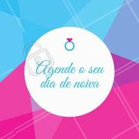 Noiva: temos pacotes especiais para você. Entre em contato para mais informações. #diadanoiva #ahazou #cabelo