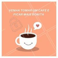 Quem não gosta de um cafezinho, não é mesmo? Venha se cuidar e tomar um café comigo. #salao #ahazou #cafe #beleza