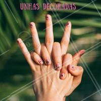 Desenhos delicados nas unhas estão na moda. Venha fazer a sua manicure e ficar por dentro da tendência. #unhas #ahazou #manicure #nailart