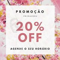 Para celebrar o início da primavera estamos com promoção em nossos serviços! #primavera #ahazou #promocao