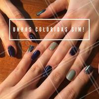 Venha colorir sua vida, quer dizer sua unha! #manicure #ahazou #nailart