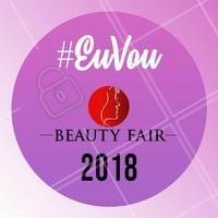 Sim, eu estarei na Beauty Fair 2018, a maior feira de beleza profissional das Américas! Sempre buscando as melhores novidades pros meus clientes. ❤️️ #beautyfair #ahazou #beleza #beautyfair2018