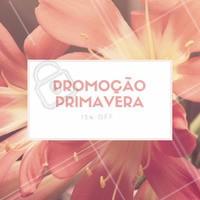 Para celebrar o início da primavera estamos com promoção em nossos serviços! 🌷#primavera #ahazou #promocao