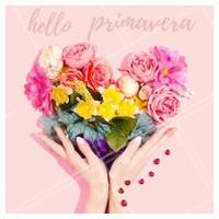 Começou a primavera! Venha fazer as suas unhas para a estação mais colorida do ano. #manicure #ahazou #primavera