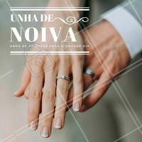 O grande dia tem que ser impecável, assim como as suas unhas! #noivas #ahazou #manicure