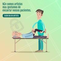 Nós ❤️️ a arte de encantar nossos pacientes. #diadoartista #ahazoufisioterapia #fisioterapia #fisio