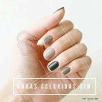 As unhas em dagradée com diferentes cores combinam com as mulheres românticas e que seguem a moda. #manicure #ahazou #moda