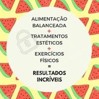 Esse é o segredo para garantir os melhores resultados e conquistar o corpo dos sonhos! 😍✨  #saúde #alimentação #beauty #ahazouestetica #estéticacorporal