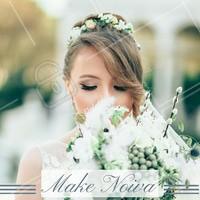 A noiva precisa estar com uma maquiagem perfeita. O delineado nos olhos e a sombra dourada são clássicos e combinam com todas as mulheres. #noivas #ahazou #maquiagem #bonita #make