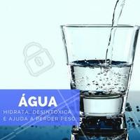A água é essencial para o funcionamento do nosso organismo. Sem ela, o metabolismo fica lento, ficamos intoxicados, envelhecemos mais rápido e adoecemos com facilidade. Já se hidratou hoje?  #água #saúde #ahazou #bemestar #alimentaçãosaudável