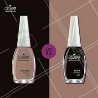 Qual você prefere? #manicure #ahazou #colorama #coloramaahazou #enquete #esmalte