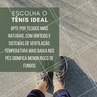 Na hora de escolher o tênis ideal para você, procure por um calçado que não aperte os pés e que não tenha um material que dificulte a ventilação.  #podologia #dicadepodologia #ahazou #tênis #cuidadoscomospes #pés